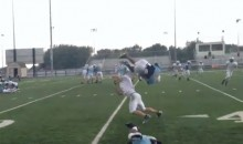 High School Football Player Performs Front Flip Over Defender (Video)