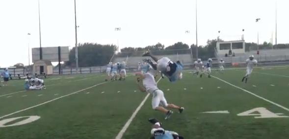 high school front flip