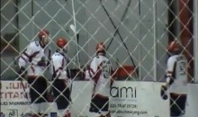 Hockey Player Scores Goal, Jumps Through Glass While Celebrating (Video)