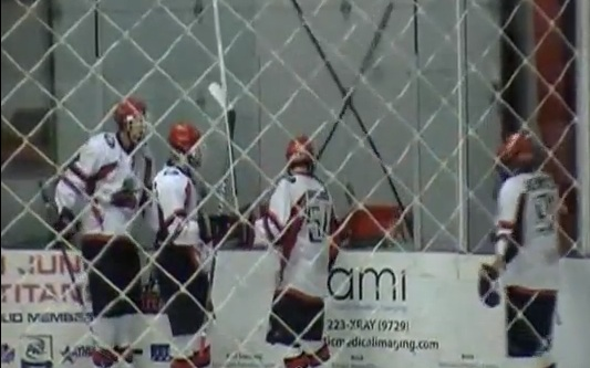 hockey goal celebration fail