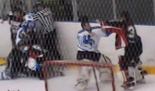 Check Out This Line Brawl From An English Junior Hockey League Game (Video)
