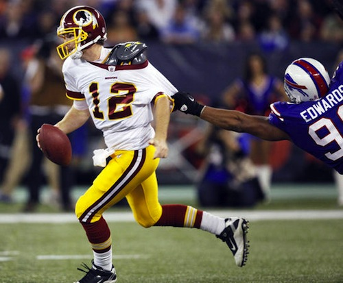 john beck redskins quarterback single-game sack record