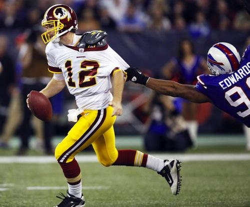 john beck redskins quarterback single-game sack record