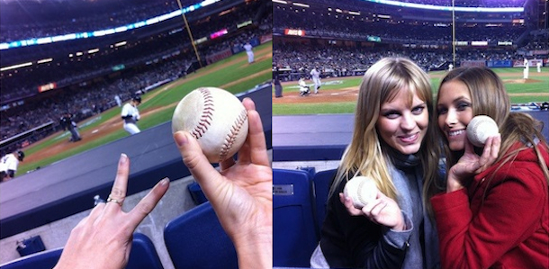 kyna tracy and kate quinn yankees game a-rod flirting