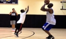 Watch Little Person Mani Love Beat Terrell Owens In A Game Of One-On-One Hoops (Video)