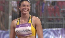 Michelle Jenneke Performs Her Sexy Pre-Race Dance Routine In The Rain (GIF)