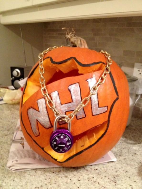 nhl lockout pumpkin 2