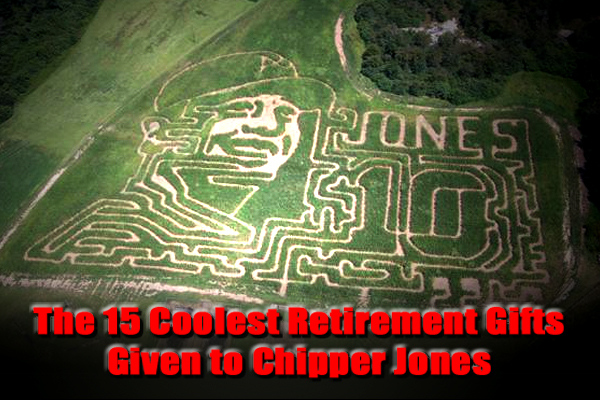 retirement gifts chipper jones