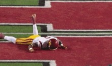 USC's Robert Woods Takes Brutal Headshot, Stumbles Like A Drunk, Sent Back Into Game One Play Later (GIFs)