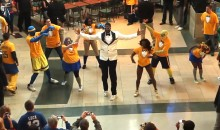 "Pacers' Roy Hibbert Was Part Of A ""Gangnam Style"" Flash Mob (Video)"