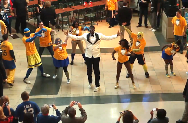 roy hibbert pacers gangnam style flash mob