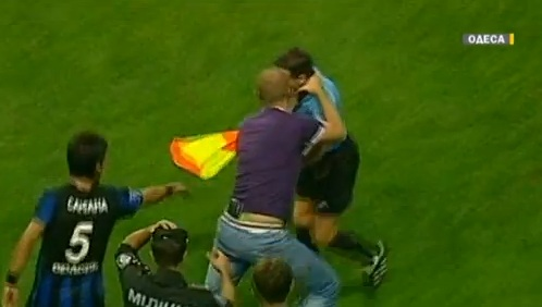soccer fan attack ref