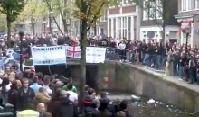 Watch Ajax Fans Clash with Manchester City Fans and Police in Amsterdam's Famous Red Light District (Video)