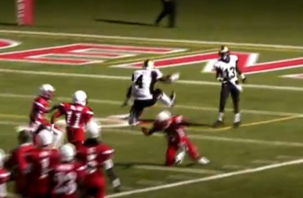 steven mitchell hurdle touchdown high school football star