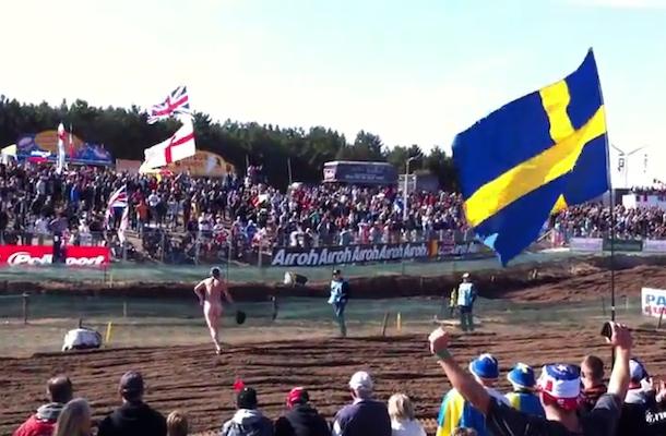 streaker at motocross of nations