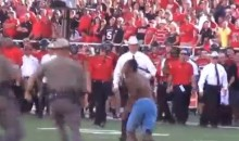 Texas Tech Streaker Gets Tackled While Trying To Strip On The Field (Video)