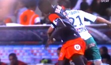 Soccer Player Deals Opponent A Vicious Elbow To The Head, Refs Card Injured Guy (Video)