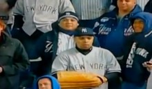 Yankees Fan's Tall Glove Comes Up Short On Raul Ibanez's Home Run (Video)