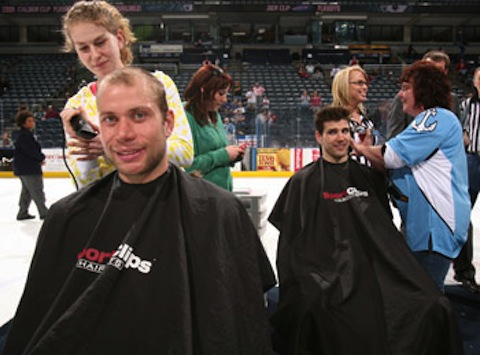 10 milwaukee admirals shave heads for charity