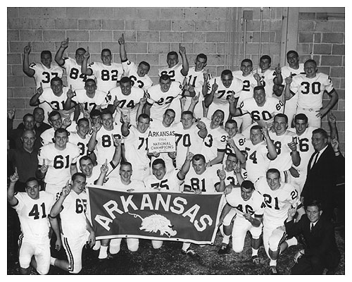 11 arkansas razorbacks 1964 - college football national championship droughts