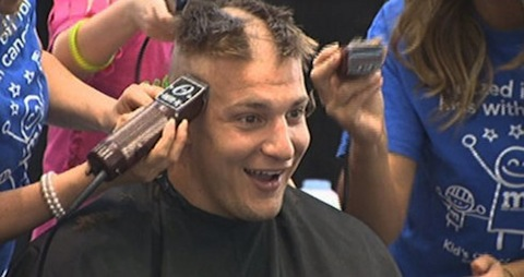 11 rob gronkowski getting head shaved for charity