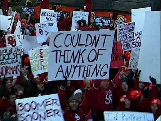 14 great funny ESPN college gameday signs - couldn't think of anything