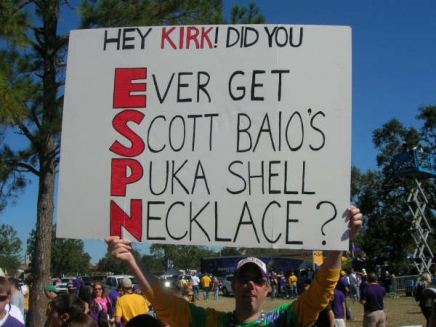 15 great funny ESPN college gameday signs - puca shell necklace