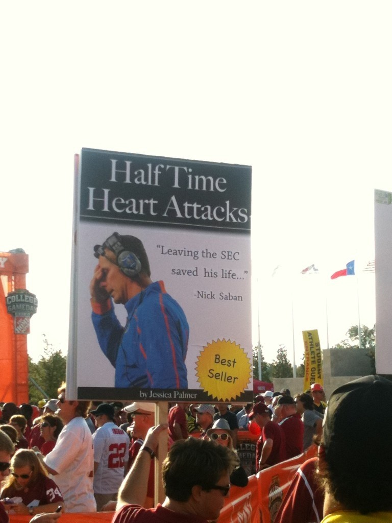 16 great funny ESPN college gameday signs - urban meyer sign