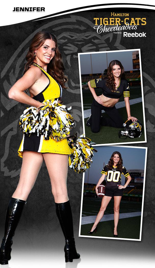 18 Hamilton Tiger-Cats Cheerleader (Jennifer) - Hottest CFL Cheerleaders