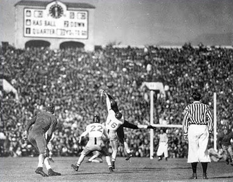 2 mustangs rose bowl 1936 - college football national championship droughts