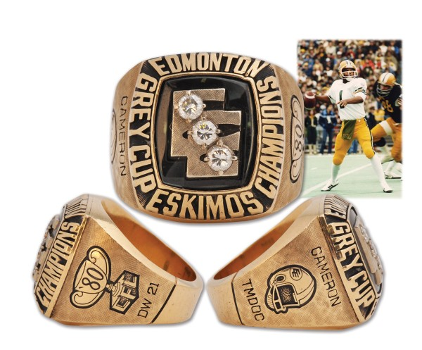 4 edmonton eskimos dynasty championship ring