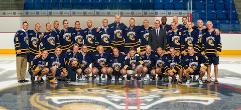 4 quinnipiac ice hockey shaved heads for cancer charity