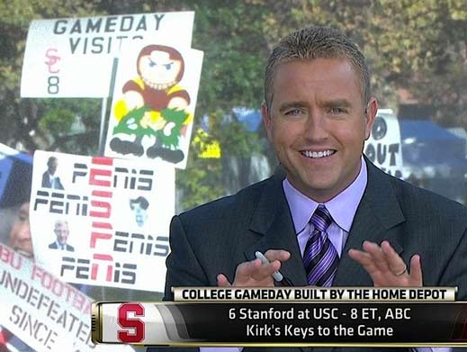 5 great funny ESPN college gameday signs - ESPN penis