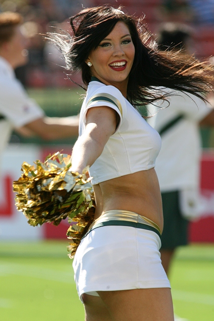 8 Edmonton Eskimoes Cheerleader (Taylor) - Hottest CFL Cheerleaders