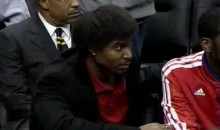 76ers' Andrew Bynum Channels His Inner Moe With Latest Hairdo (Video)