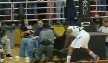 Cameraman Falls Off Chair During Basketball Game, Announcers Won't Stop Talking About It (Video)
