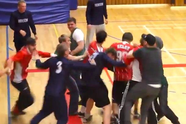 beer cup indoor soccer mma brawl