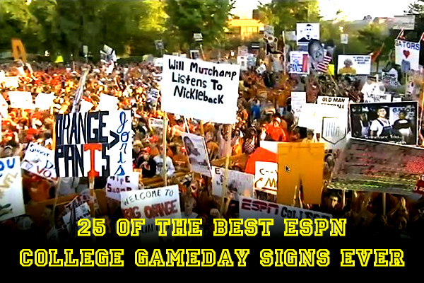 best espn college gameday signs