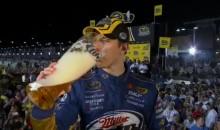 Brad Keselowski Celebrated His 2012 NASCAR Sprint Cup Championship with Lots of Miller Lite (Video)