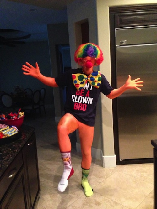 bryce harper clown halloween costume 2012