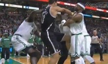 Rajon Rondo Started a Brawl Between the Nets and Celtics Last Night (Video)