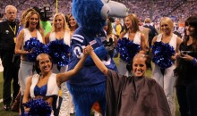 Two Colts Cheerleaders Got Their Heads Shaved as a Reward for Raising $20,000 for Leukemia Research (Video)