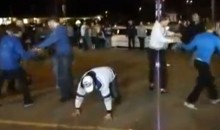 Watch This Drunk Hockey Fan Ruin A Flash Mob In Sudbury (Video)
