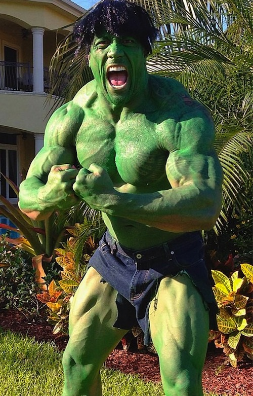 duane johnson the rock hulk halloween costume 2012