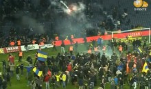 Danish Soccer Fans Invade Pitch, Engage in Flare Warfare After Tense Game (Video)
