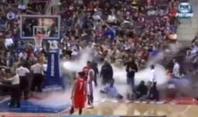 Halloween Fail: Fog Machine Turns On During Pistons-Rockets Game (Video)