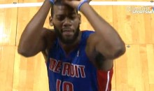 Pistons' Greg Monroe Sinks Free Throws with One Eye Closed (Video)