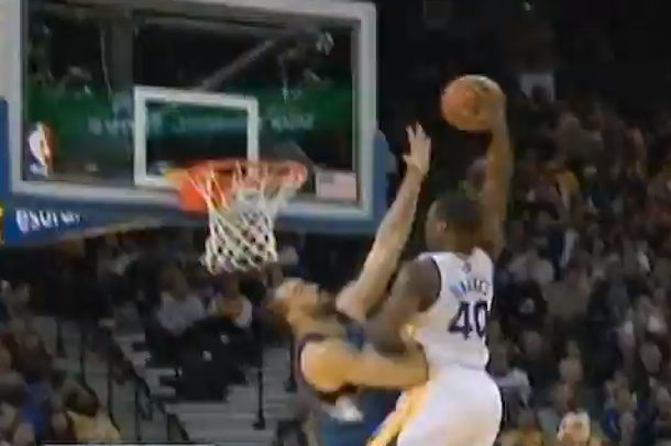 harrison barnes dunks on nikola pekovic