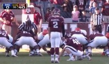 Johnny Manziel Attempted and Missed an Extra Point on Saturday (Video)