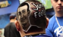 Johnny Manziel Portrait Shaved Into Aggies Fan's Head by Rob the Original (Video)